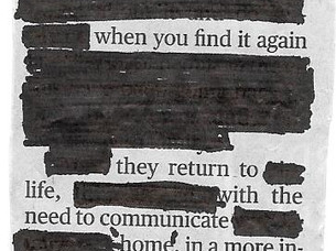 The Joy of Blackout Poetry