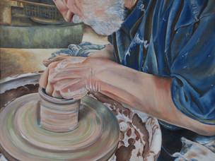 Pottery lesson  by Vidya Venkat