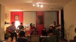 The kirtan band