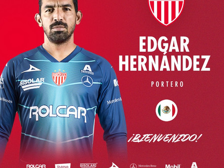 ÉDGAR HERNÁNDEZ REFORZARÁ EL ARCO DE CLUB NECAXA.