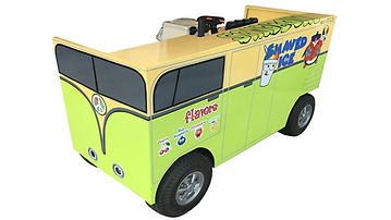 VW Bus Cart - White Background - Custome