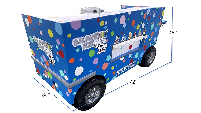 Blue Polka Dot Shaved Ice Cart with Dime