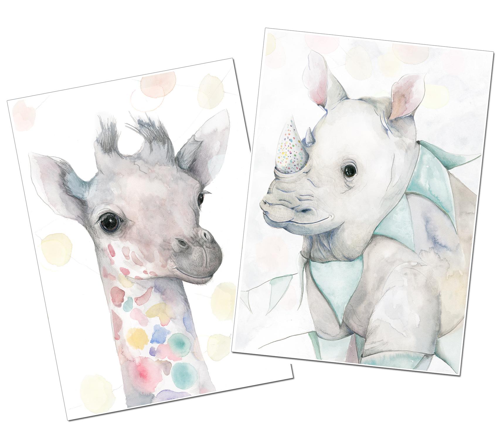 Party Giraffe & Rhino
