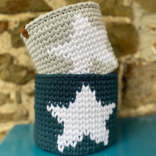 Crochet Star Basket Pattern