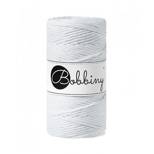 White Bobbiny single twist macrame cord 3mm