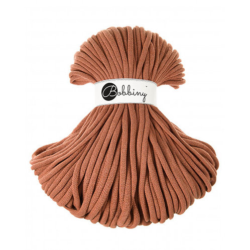 Terracotta Bobbiny cord 9mm