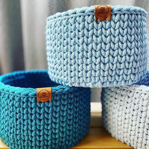 Crochet Basket Pattern - Knitted Look