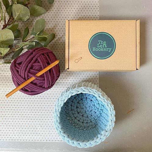 Small Crochet Basket Kit