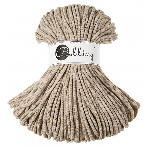 Beige Bobbiny cord 5mm