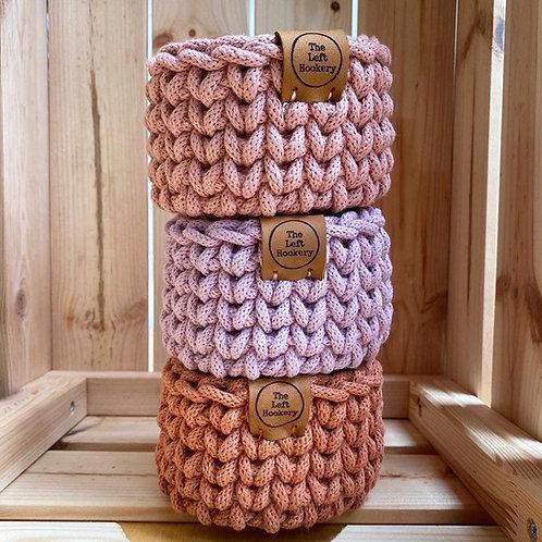 Crochet Tiny Basket Pattern