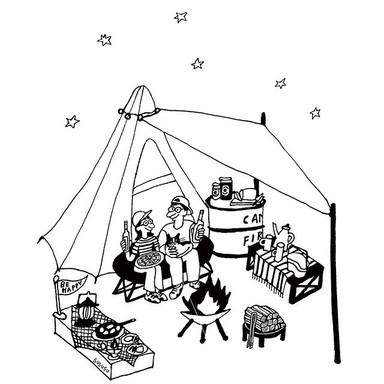キャンプ用 T  イラストデザイン