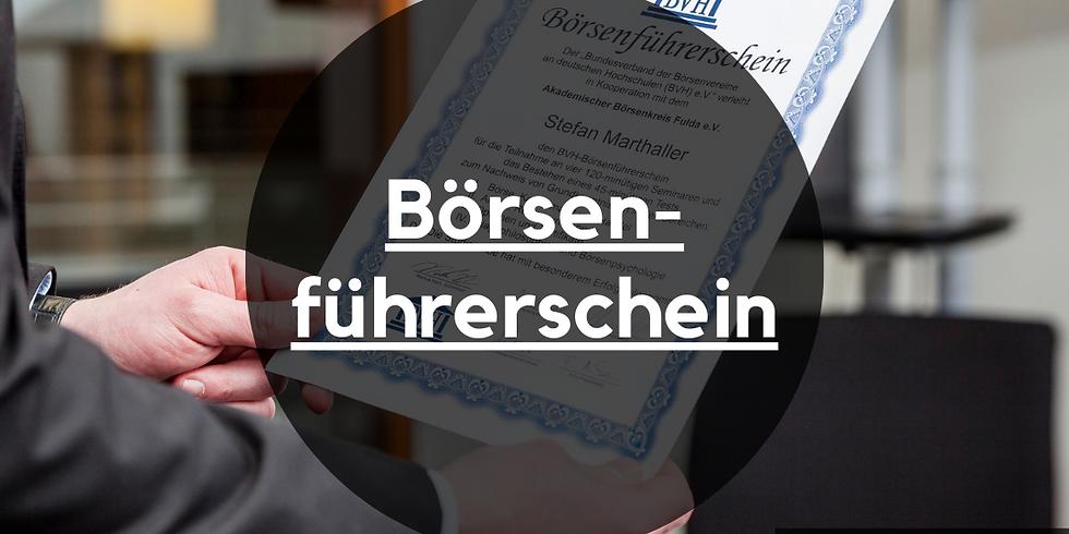 Börsenführerschein on-demand Webinare und Prüfung