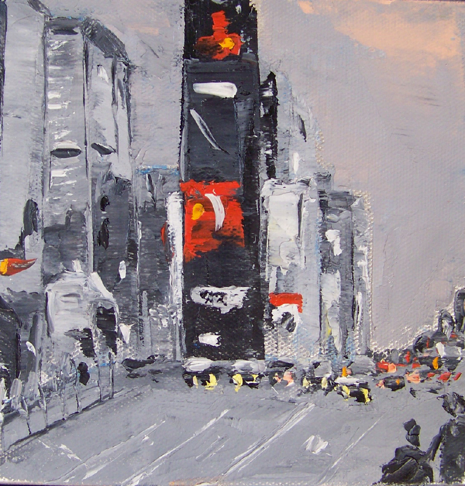 city 6, 6x6,oil, sold