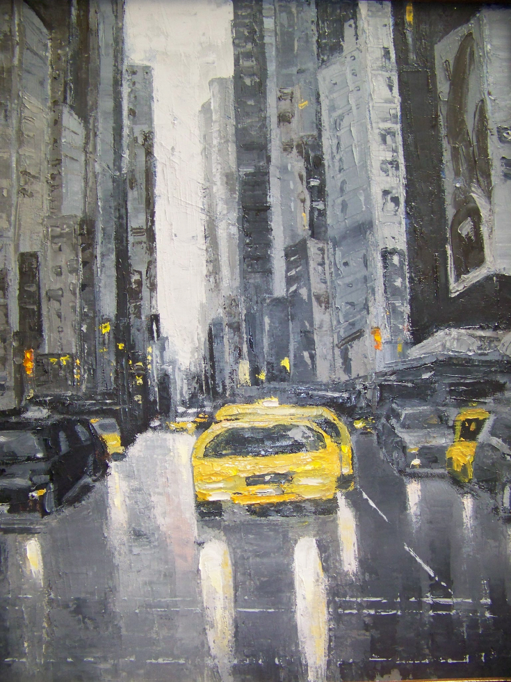 Grey City, 20x16, oil,