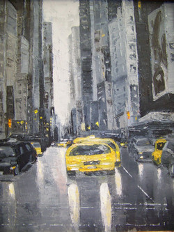 Grey City, 20x16, oil,