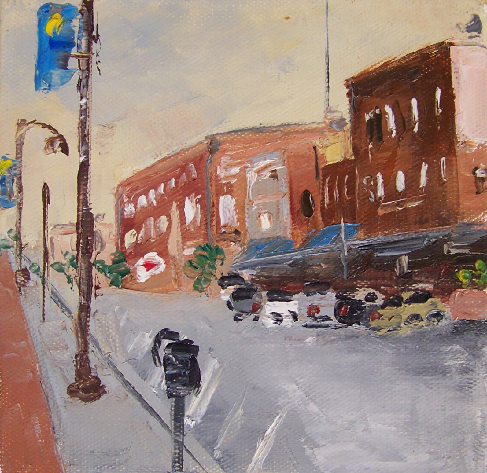 city 7, 6x6, oil, sold