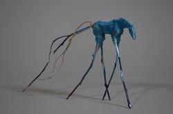 2.peggy sivert, blue, ceramic, eucalyptus, 2015, 4__x4__x2__sold, sm