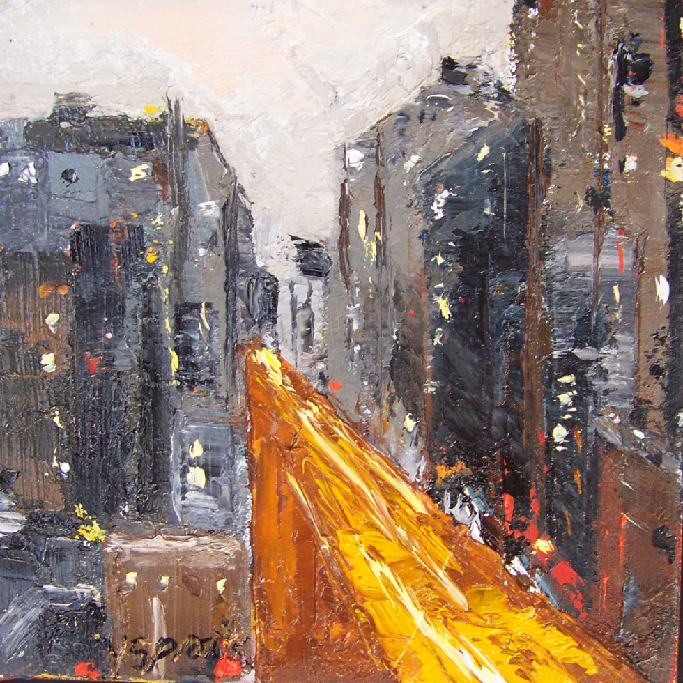 city 4,6x6, oil, sold