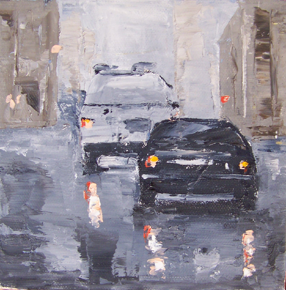 city 2, 6x6, oil, sold
