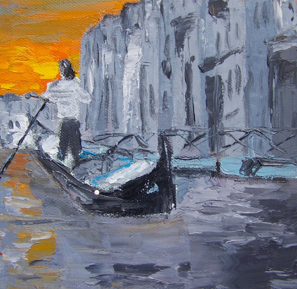 Venice 2, 6x6, oil, sold