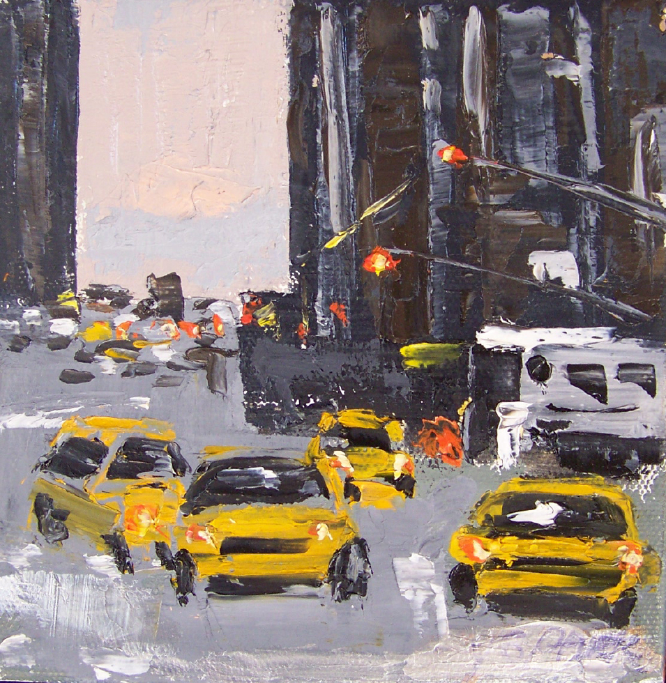 city 8, 6x6, oil, sold