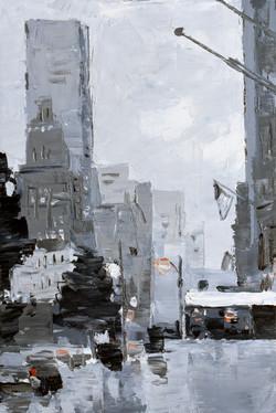 Grey City I, 12x16in, oil