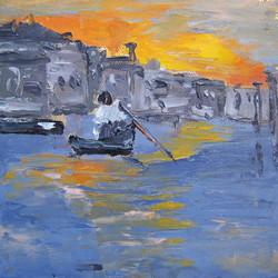 Venice 1, 6x6, oil