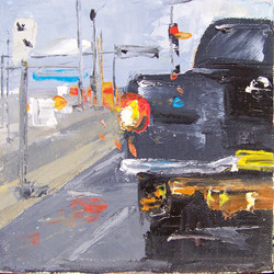 city 9, 6x6, oil, sold