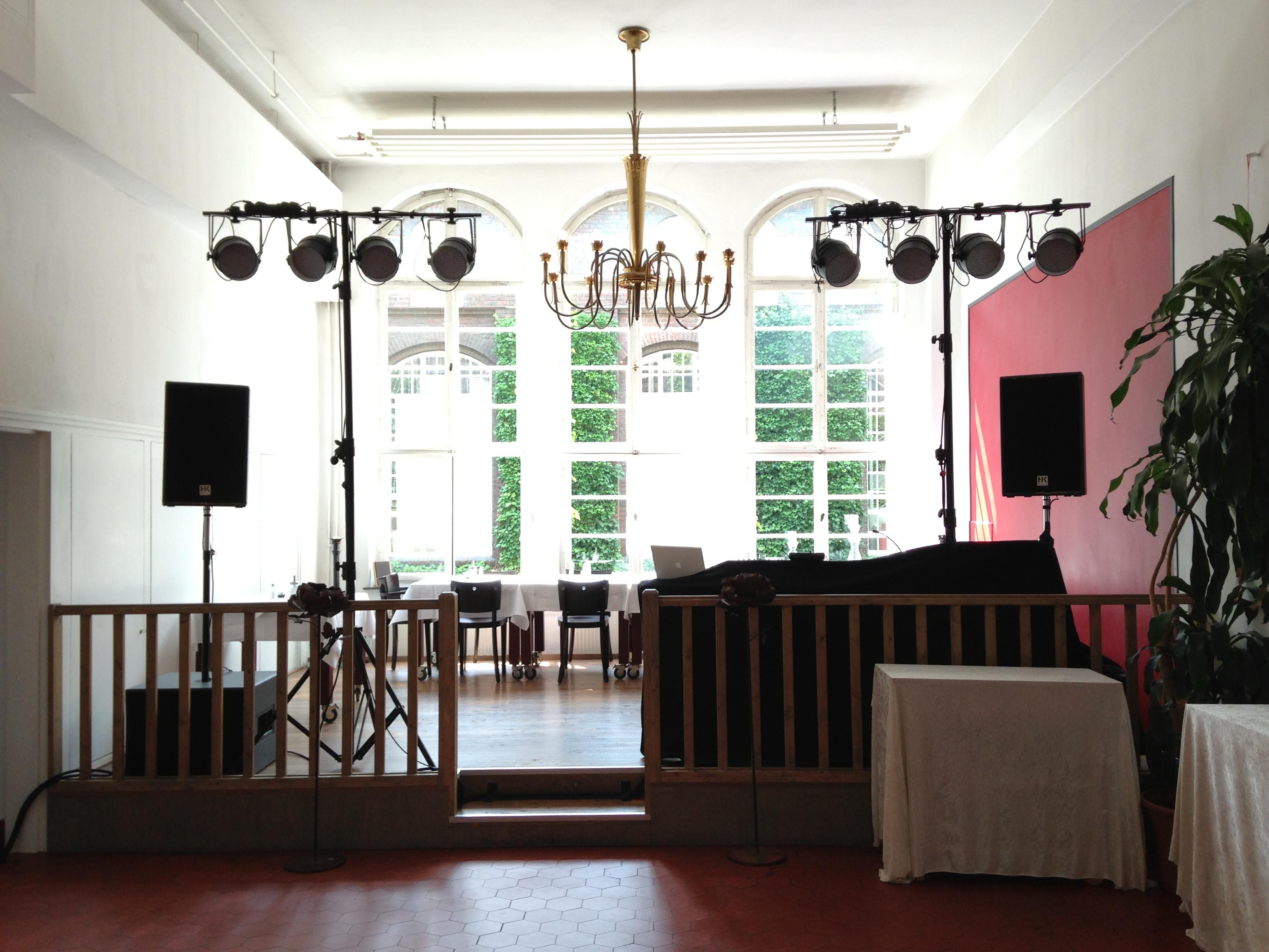 DJ Aufbau Hochzeit Essen