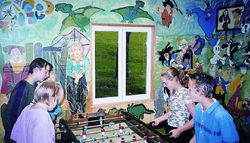 Salle de baby - ping-pong