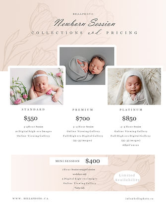 comox valley newborn photographer  prici