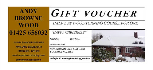 GIFT VOUCHER HALF DAY FOR ONE TASTER SESSION
