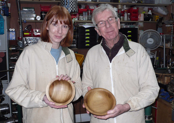 Amber and her Dad enjoyed their woodturning experience!