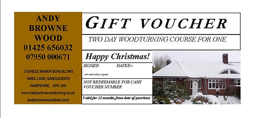 GIFT VOUCHER TWO DAY FOR ONE PERSON