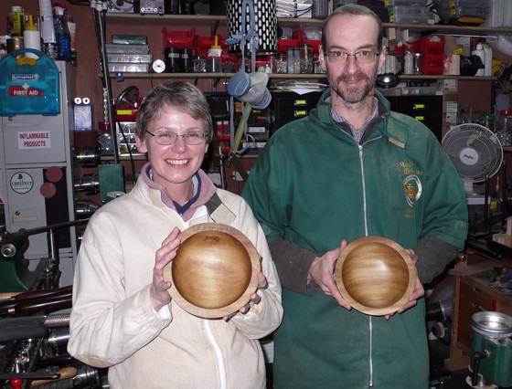 """We thoroughly enjoyed our introduction to woodturning (and our delicious homemade lunch). Andy"