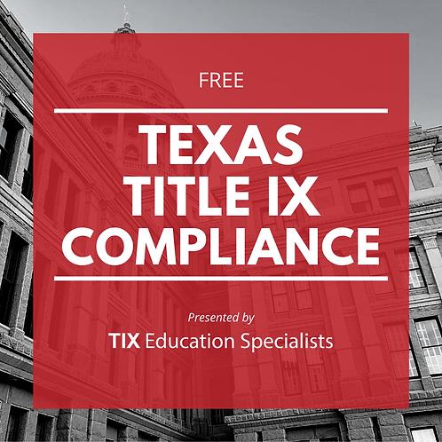 Texas Title IX Compliance