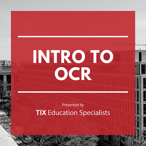 Introduction to OCR