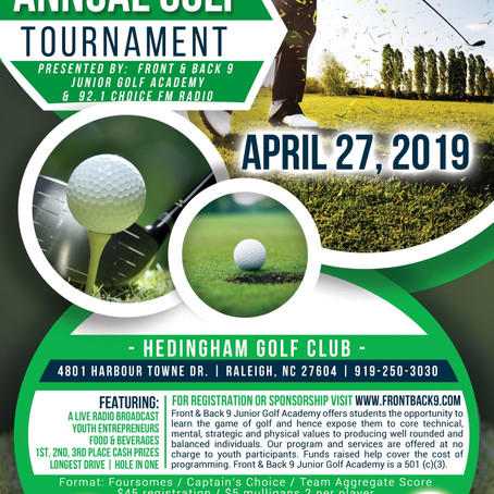 SAVE THE DATE! - 1st Annual Golf Tournament