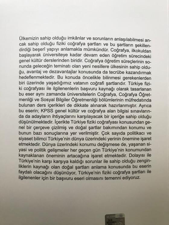 Türkiye'nin Fiziki Coğrafyası