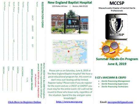 June 8, 2019 Seminar at New England Baptist Hospital