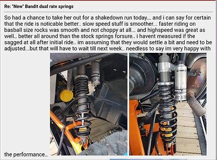 Bandit dual rate springs