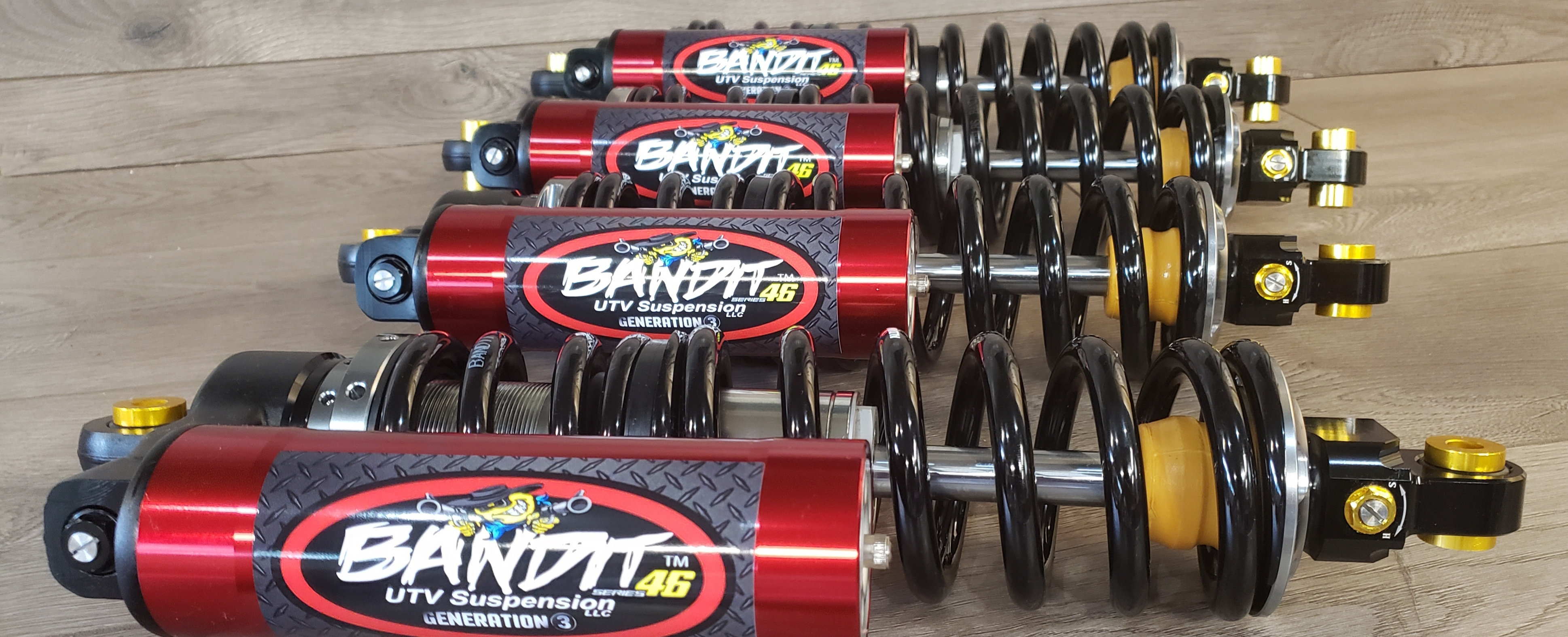NEW (ALL 4) 2012-2020 T4 SERIES 46 GENERATION 3 PRO HIGH VOLUME STEEL |  Bandit UTV