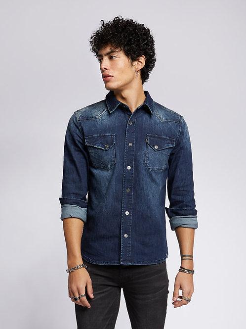 Jeans-Hemd mid blue