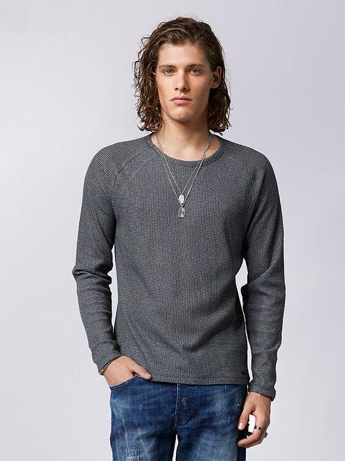 Pullover / dark grey - white