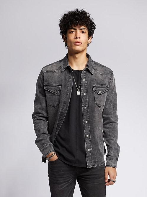 Jeans-Hemd dark grey