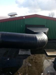 Lamella mat with a PIB finish for weather protection
