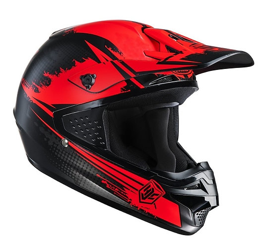 CASCO CROSS HJC ZEALOT MC1 RED