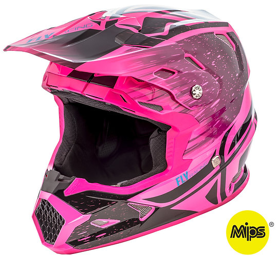 CASCO TOXIN RESIN BLACK/PINK NEON FLY RACING