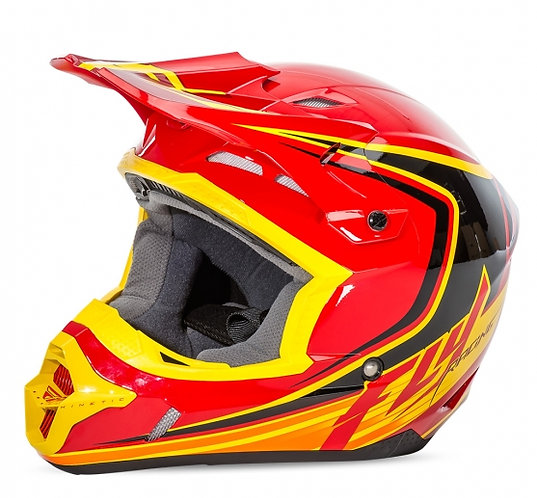 CASCO KINETIC FULL SPEED RED/YELLOW FLY RACING
