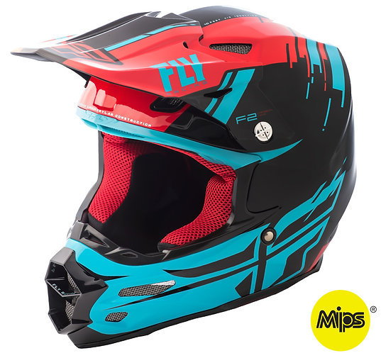 CASCO F2 FLY RACING FORGE RED/BLUE/BLACK